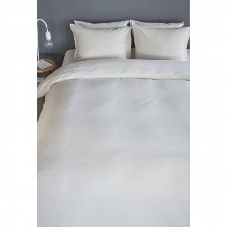 Set lenjerie de pat cu 2 fete de perna bumbac Basic model simplu nisipiu