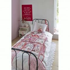 Set lenjerie de pat fete cu 1 fata de perna Sweet Palace cu tematica regala