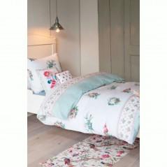 Set lenjerie de pat fete cu 1 fata de perna Memory land cu imprimeu floral