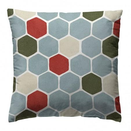 Perna decorativa moderna Loneta Saksa Original cu un design geometric multicolor