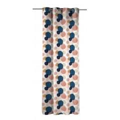 Draperie confectionata cu inele Nicaragua Walma Original cu buline mari colorate