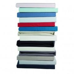 Cearceaf de calitate cu elastic pentru pat copii Jersey TP bleu