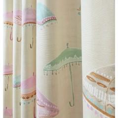 Metraj draperie copii bumbac crem cu umbrelute colorate