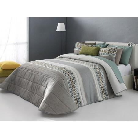 Cuvertura de pat Fergus cu design modern in nuante de bej