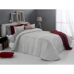 Cuvertura de pat Telmo alb cu design elegant