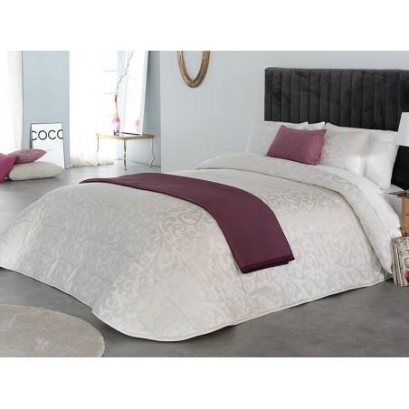 Cuvertura de pat eleganta Heaven cu design deosebit ivoire