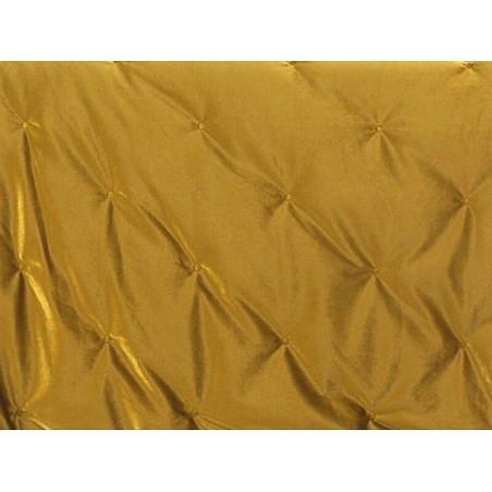 Cuvertura de pat eleganta Pandore catifea galben mustar