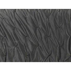 Cuvertura de pat eleganta Pandore catifea gri inchis