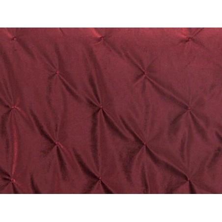 Cuvertura de pat eleganta Pandore catifea rosie