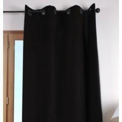 Draperie bumbac confectionata cu inele Duo Uni negru