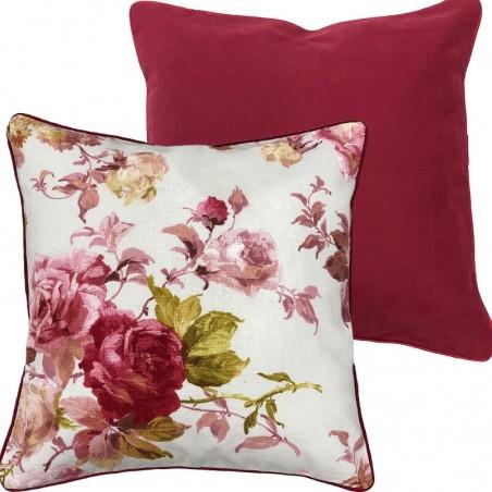 Perna decorativa cu 2 fete bumbac cu model floral elegant