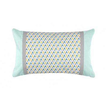 Perna decor cu imprimeu geometric blue cu lila Isocele