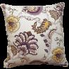 Perna decorativa cu 2 fete model floral crem cu mov