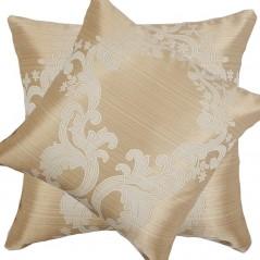 Perna decorativa auriu cu crem