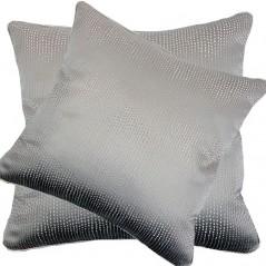 Perna decorativa moderna gri deschis cu argintiu