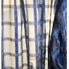 Metraj perdea organza bleumarin cu patrate
