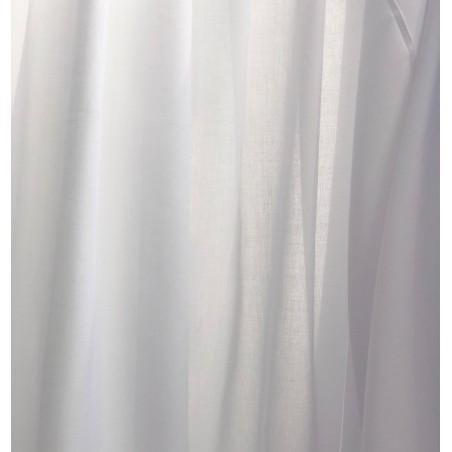 Metraj perdea simpla cu aspect natural alb