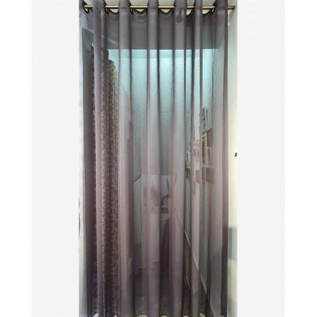 Perdea moderna gri inchis Karo confectionata cu inele 240x240 cm