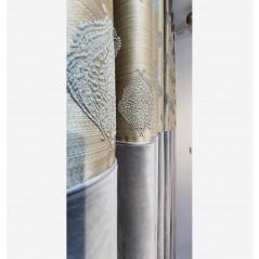 Draperie eleganta catifea gri confectionata pe rejansa cu 3 pliuri 280x270 cm