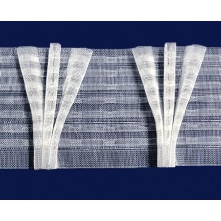 Rejansa transparenta cu 3 pliuri randunica pentru perdea, 10 cm latime