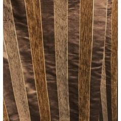 Metraj draperie si tapiterie Goya maro cu dungi de catifea