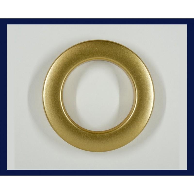 Inele tip capsa auriu mat 35 mm, set 10 buc