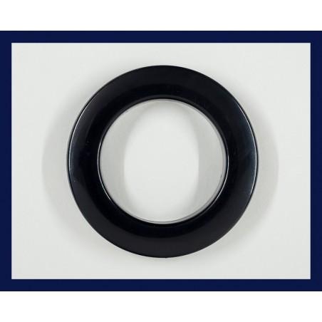 Inele tip capsa negru 35 mm, set 10 buc