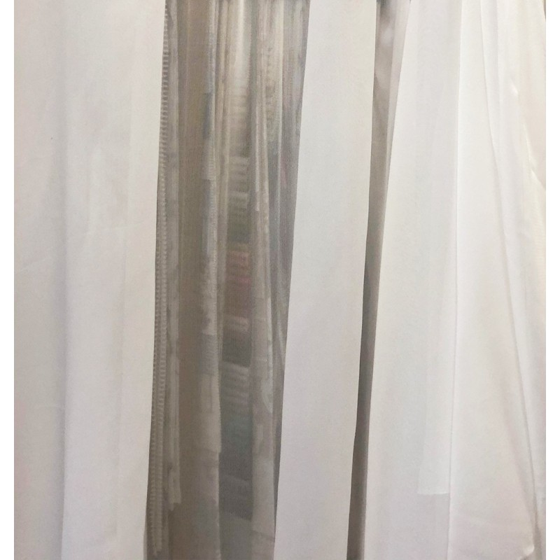 Metraj perdea simpla voal ivoire calcare Krep