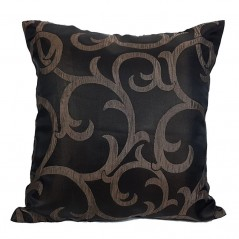 Perna decorativa negru model jacquard