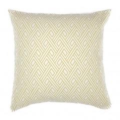 Perna decorativa vesela galben cu alb