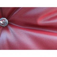 Perna decorativa eleganta rosie cu franjuri si nasture