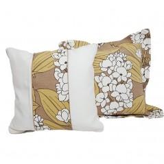 Set 2 perne decorative Azalea bej cu alb