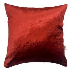 Perna decorativa eleganta catifea lucioasa rosie