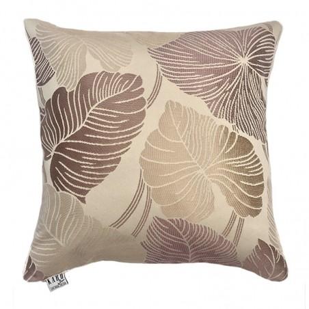 Perna decorativa cu design tropical bej cu maro