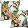 Perna decorativa cu design exotic pe crem