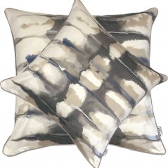 Perna decorativa moderna cu design abstract gri cu bej si crem
