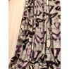 Metraj draperie si tapiterie cu aspect catifelat model cu fluturi pe fond gri