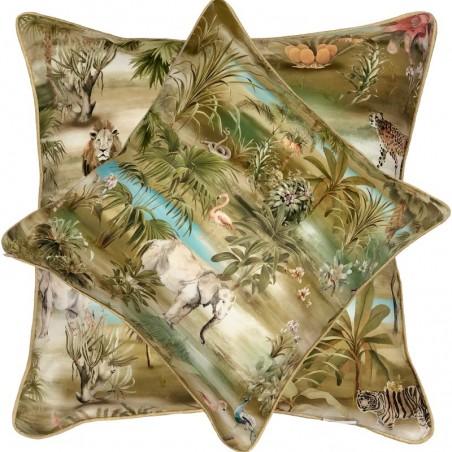 Perna decorativa cu 2 fete design cu imagini din savana