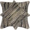 Perna decorativa cu aspect texturat si design abstract maro cu bej si negru