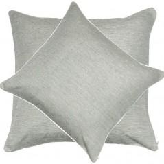 Perna decorativa moderna cu aspect texturat gri argintiu