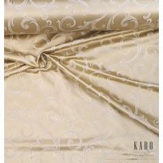 Metraj draperie si tapiterie cu 2 fete Gwiazda model elegant pe auriu si ivoire