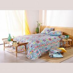 Set cuvertura de pat cu 2 fete de perna stil mexican Miko