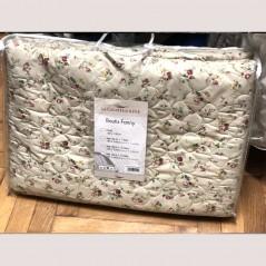 Set cuvertura de pat cu 2 fete de perna cu model floral Fanny crem