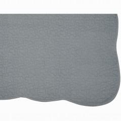 Set cuvertura de pat cu 2 fete de perna model simplu Castille gri