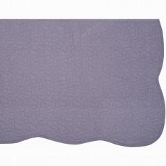 Set cuvertura de pat cu 2 fete de perna model simplu Castille lila