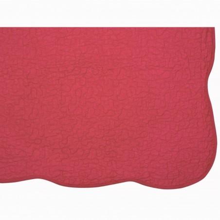Set cuvertura de pat cu 2 fete de perna model simplu Castille rosu