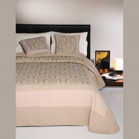 Set cuvertura de pat cu 2 fete de perna design clasic Vignemale bej