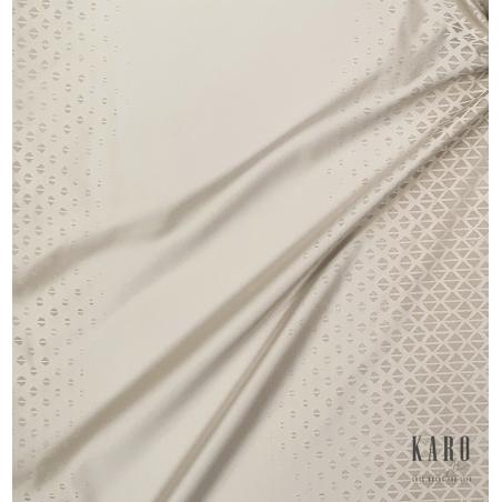 Metraj draperie design modern cu triunghiuri Neo bej deschis