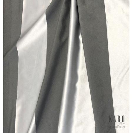 Metraj draperie Stripe model cu dungi gri si albe