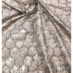 Metraj draperie Oyster Dabob cu design elegant grej perlat